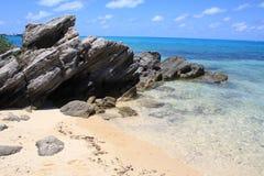 Tiro Bermuda da praia imagem de stock