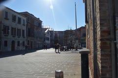 Tiro bonito en la vecindad de Dorsoduro en Venecia foto de archivo libre de regalías