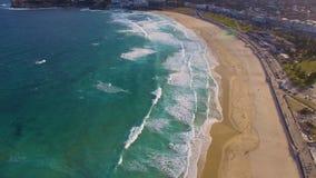 Tiro cênico da praia de Bondi video estoque