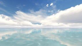 Tiro calmo e calmo de um mar delicadamente de dobramento e de um c?u agrad?vel ilustração do vetor