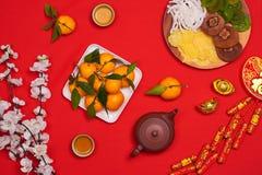 Tiro chino de la sobremesa del Año Nuevo del Año Nuevo de la endecha plana El niño roba Imagenes de archivo