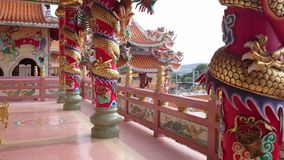 Tiro cinese del tempio in 4k stock footage