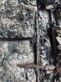 Tiro completo do quadro do reforço de aço exposto foto de stock royalty free