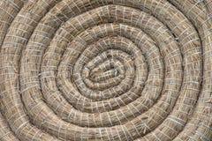 Tiro con l'arco Straw Target Background arrotolato rotondo Immagini Stock Libere da Diritti