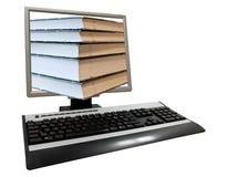 Tiro conceptual de la pantalla de ordenador fotos de archivo libres de regalías