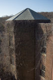 Tiro constructivo abandonado del tejado Foto de archivo libre de regalías