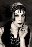 tiro da beleza de 1920 estilos Fotos de Stock Royalty Free