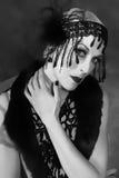 tiro da beleza de 1920 estilos Fotografia de Stock Royalty Free