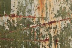 Tiro da foto do fundo da textura de Rusty Metal Pilling Paint Surface foto de stock royalty free