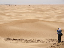 Tiro da foto no deserto Foto de Stock Royalty Free