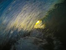 Tiro da onda do nascer do sol de Kauai imagem de stock