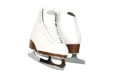 Tiro da parte dianteira dos patins de gelo da senhora dos profissionais imagens de stock royalty free