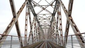 Tiro da trilha de estrada de ferro em Coreia video estoque