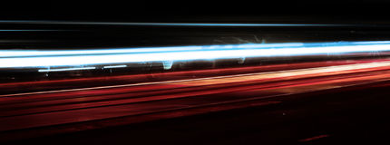 Tiro da velocidade e da noite Fotos de Stock