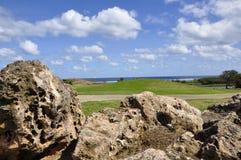 Tiro de acercamiento del campo de golf Foto de archivo libre de regalías