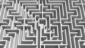 Tiro de arriba del laberinto complicado ilustración del vector