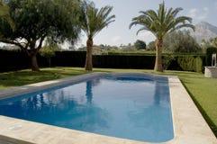 tiro de canto de uma piscina Imagens de Stock