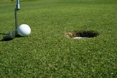 Tiro de golf Fotos de archivo libres de regalías