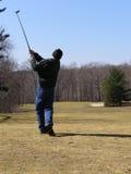 Tiro de golf Foto de archivo libre de regalías