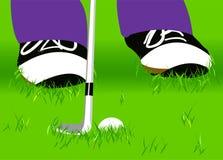 Tiro de golfe ilustração stock