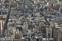 Tiro de la antena de Nueva York Fotos de archivo libres de regalías