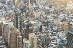 Tiro de la antena de Nueva York Foto de archivo libre de regalías