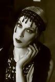 tiro de la belleza de 1920 estilos Imagen de archivo libre de regalías