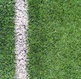 Tiro de la esquina de la hierba del campo de fútbol Imagen de archivo libre de regalías