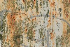 Tiro de la foto del fondo de la textura de Rusty Metal Pilling Paint Surface imágenes de archivo libres de regalías