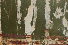 Tiro de la foto del fondo de la textura de Rusty Metal Pilling Paint Surface fotos de archivo