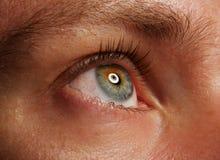 Tiro de la macro del ojo humano Fotografía de archivo