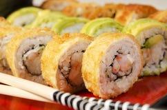 Tiro de la macro del sushi Imagen de archivo libre de regalías