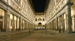 Tiro de la noche de Uffizi Imagen de archivo
