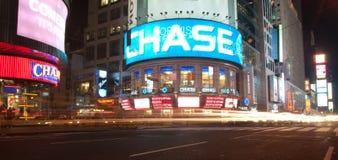Tiro de la noche del Times Square Foto de archivo libre de regalías