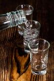 Tiro de la vodka Imágenes de archivo libres de regalías