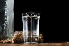 Tiro de la vodka Fotografía de archivo