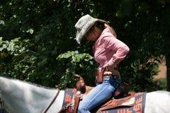 Tiro de Mounted do vaqueiro Fotos de Stock Royalty Free
