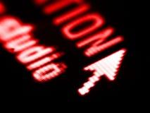 Tiro de pantalla Imagen de archivo libre de regalías