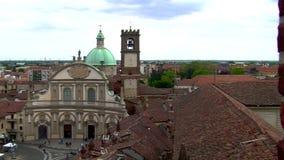 Tiro de revelação da catedral e da praça Ducale, Vigevano, picovolt, Itália vídeos de arquivo