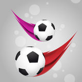 Tiro del balón de fútbol Imagen de archivo