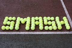 Tiro del choque del tenis Fotos de archivo libres de regalías