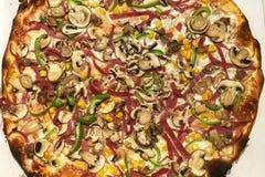 Tiro del dettaglio della pizza di Delicous Fotografia Stock