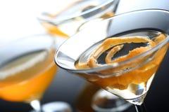 Tiro del estudio de la bebida de martini Fotos de archivo