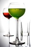 Tiro del estudio de las bebidas - cercanas - para arriba Fotos de archivo libres de regalías
