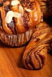 Tiro del estudio del pan del chocolate Imagen de archivo libre de regalías