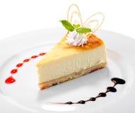 Tiro del estudio del pastel de queso Fotos de archivo