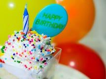 Tiro del feliz cumpleaños Foto de archivo libre de regalías