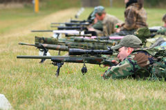Tiro del fucile di precisione Fotografie Stock