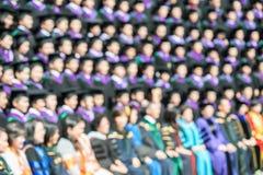 Tiro del graduado en la ceremonia de graduación La imagen era f borrosa Fotos de archivo libres de regalías