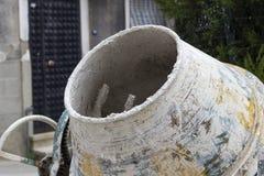 Tiro del mezclador usado del cemento Fotos de archivo libres de regalías